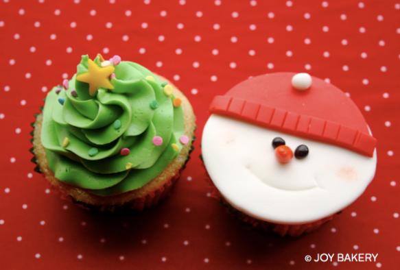 christmas cupcakes - Joy Bakery