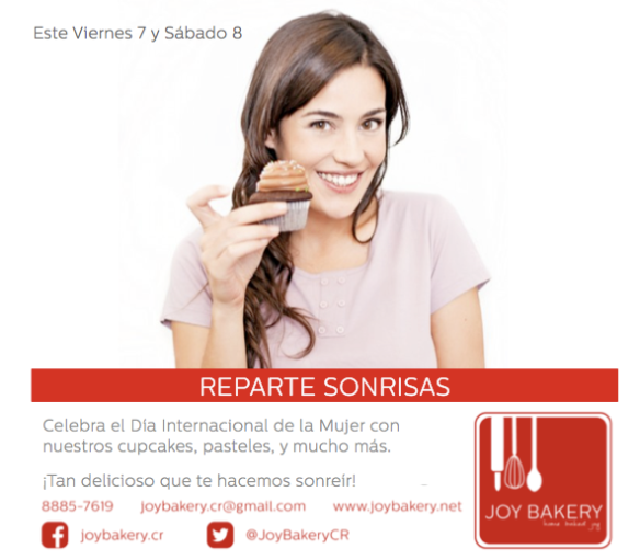 Dia Internacional Mujer - Joy Bakery
