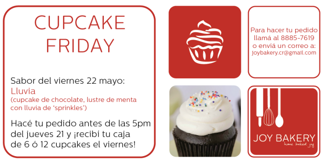 Cupcake Friday - Rain - Joy Bakery
