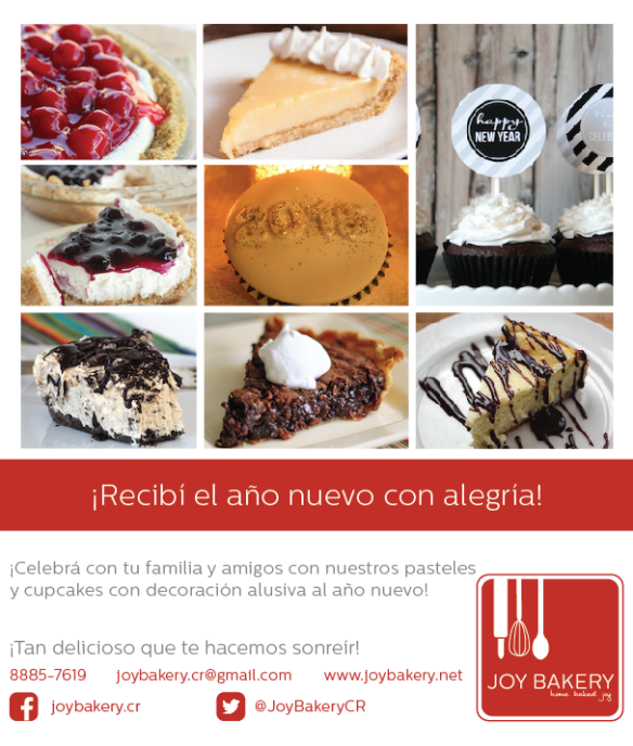 Productos New Years Eve - Joy Bakery