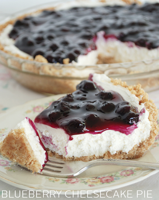 Blueberry Cheesecake Pie - Joy Bakery